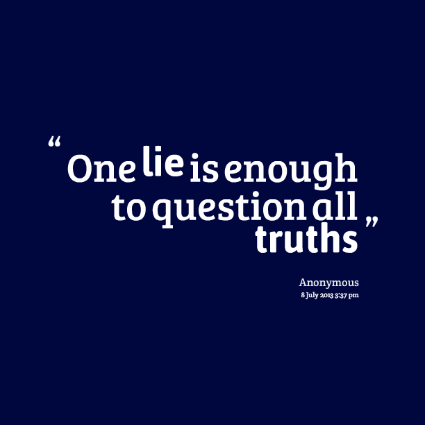 telling lies quotes quotesgram