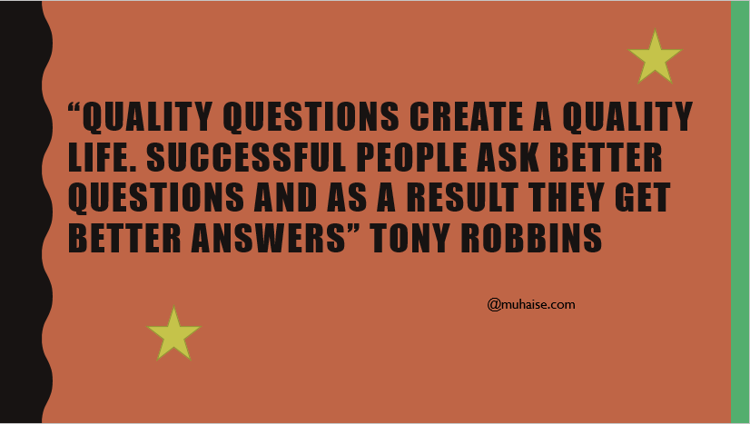 Inspirational quote on questions